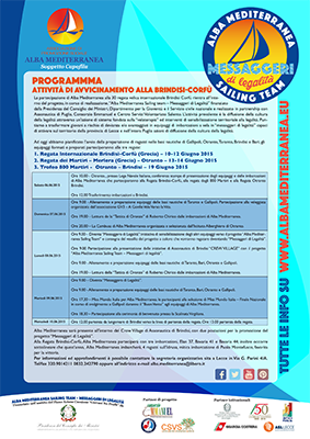 Programma di avvicinamento alla Brindisi-Corfù 2015
